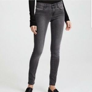 J Brand Gray Super Skinny Dare Mid Rise Jeans - 28
